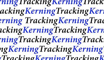 Kerning y tracking: qué son y para qué sirven